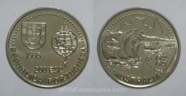 444e KM#684 Portugal - 200 Escudos 1995 Austrália (Cupro-Níquel)