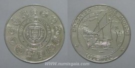 494j KM#657 Portugal - 1000 Escudos 1992 Encontro de Dois Mundos (Prata)