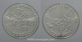 506i KM#714 Portugal - 1000 Escudos 1999 Liga dos Combatentes (Prata)