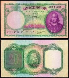 Portugal BP054a Chapa6 - 20 ESCUDOS 28 Janeiro 1941 D. António Luís de Meneses