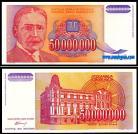 Yugoslávia - 50000000 DINARA 1993