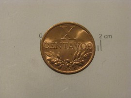 50n KM#583 Portugal - X Centavos 1964 (Bronze)
