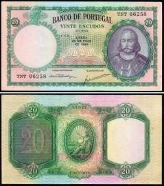 Portugal BP060a Chapa6 - 20 ESCUDOS 25 Maio 1954 D. António Luís de Meneses
