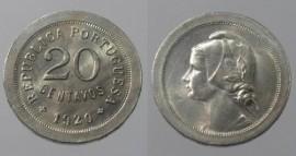 70x KM#571 Portugal - 20 Centavos 1920 (Cupro Niquel)