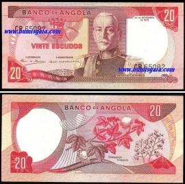 Angola - 20 ESCUDOS 1972 Marechal Carmona