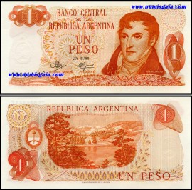 Argentina ARG1(1970-1973ND)d  - 1 PESO (1970-1973ND)