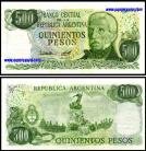 Argentina - 500 PESOS 1976-78ND