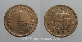 Angola KM#60AO21i - 1 CENTAVO 1921
