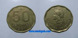 Argentina KM#99AR87 - 50 CENTAVOS 1987