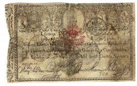 Portugal APOLICE Nº429338 - 20$000 REIS 1799 (com o ultimo algarismo da data manuscrito)
