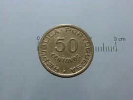 Angola KM#75AO53g - 50 CENTAVOS 1953