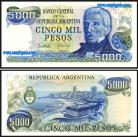 Argentina - 5000 PESOS 1977-83ND