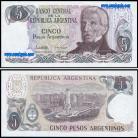 Argentina - 5 PESOS 1983-84ND