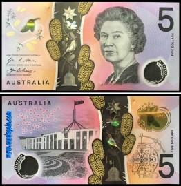 Australia - 5 DOLLARS 2016ND