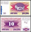Bósnia Herzegovínia - 10 DINARES 1992