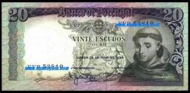 Portugal BP063a(3)NOVA Chapa7 - 20 ESCUDOS 26 Maio 1964 Santo António (Verde)