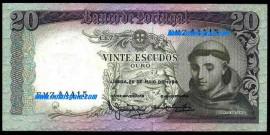 Portugal BP063a(5)NOVA Chapa7 - 20 ESCUDOS 26 Maio 1964 Santo António (Verde)