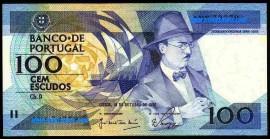 Portugal BP85A(1)NOVA - 100 ESCUDOS 16 Outubro 1986 Fernando Pessoa