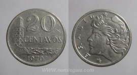 Brasil KM#579.2BR70f - 20 CENTAVOS 1970
