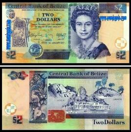 Belize - 2 DOLLARS 2017