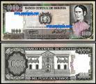Bolívia - 1000 PESOS BOLIVIANOS 1982