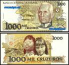 Brasil BRA1000(1990-91)g - 1000 CRUZADOS (1990-91ND)