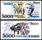 Brasil - 5000 CRUZEIROS 1990-93ND