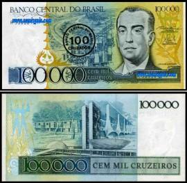 Brasil BRA100-100000(1986ND) - 100 CRUZADOS Sobre 100000 CRUZEIROS 1993ND