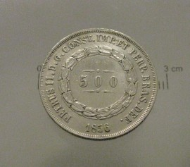 Brasil KM#464BR1856 - 500 REIS 1856 (SILVER)