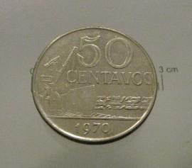 Brasil KM#580aBR70l - 50 CENTAVOS 1970