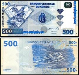 Congo COG500(2002)i - 500 FRANCS 2002