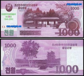 Coreia do Norte PRK1000(2018)e - 1000 WON 2018
