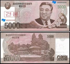 Coreia do Norte PRK5000(2008) - 5000 WON 2008 (ESPÉCIMEN)