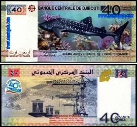 Djibouti DJI40(2017)c - 40 FRANCS 2017