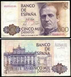 Espanha ESP5000(1979) - 5000 PESETAS 1979