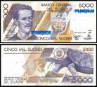 Ecuador - 5000 SUCRES 1999