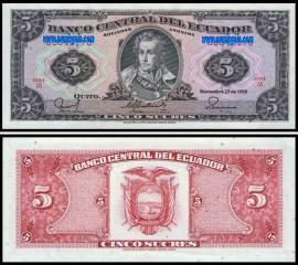 Ecuador ECU5(88)d - 5  SUCRES 22 Noviembre 1988