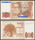 Espanha - 200 PESETAS 1980