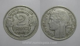 França KM#886a.1FR48 - 2 FRANCS 1948
