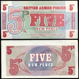 British Armed Forces GRB5h - 5 NEW PENCE 6Th Series