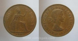 Great Britain KM#897GB62a - 1 PENNY 1962