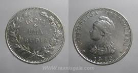 Índia KM#18INP12f - 1 RUPIA 1912
