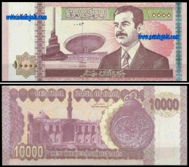 Iraque IRQ10000(2002ND)c - 10000 DINARS 2002ND (Saddam Hussein)