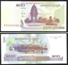 Camboja KHM100(2001)p - 100 RIELS 2001