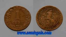 Holanda KM#107NL1883 - 1 CENT 1883