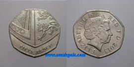 Great Britain KM#1112GB13 - 50 PENCE 2013