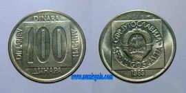 Yugoslávia KM#134YU89 - 100 DINARA 1989