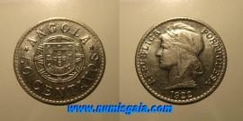 Angola KM#65AO22 - 50 CENTAVOS 1922