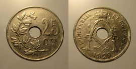 Belgica KM#69BE29 - 25 CENTIMES 1929