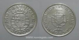 Moçambique KM#80MZ55i - 20 ESCUDOS 1955 (prata)